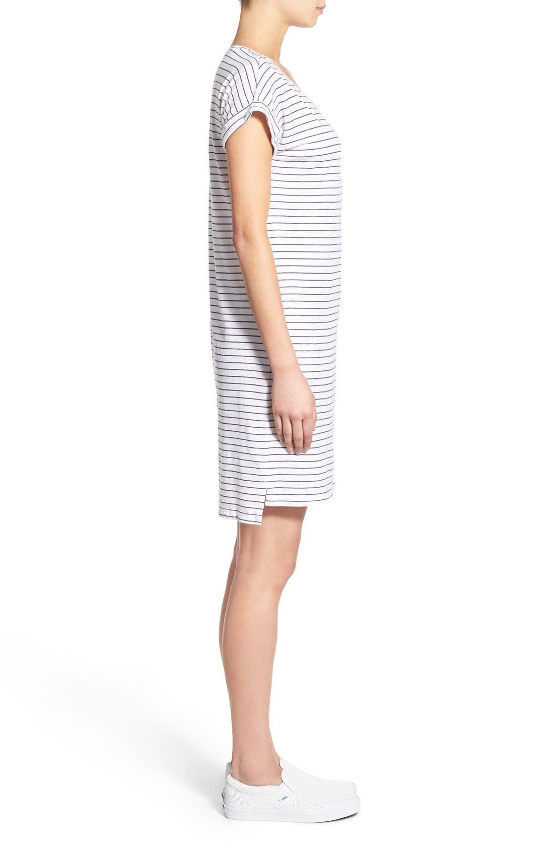 Alternate Image 2  - Sundry Stripe Short Sleeve Shift Dress