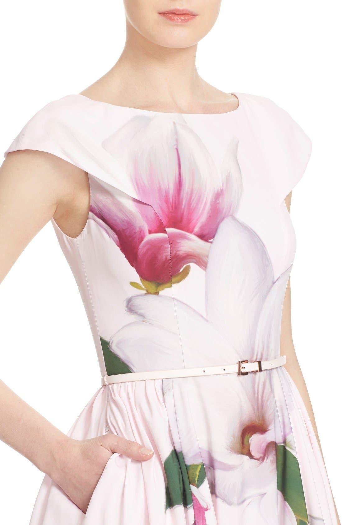 Alternate Image 4  - Ted Baker London 'Bromlie' Fit & Flare Dress
