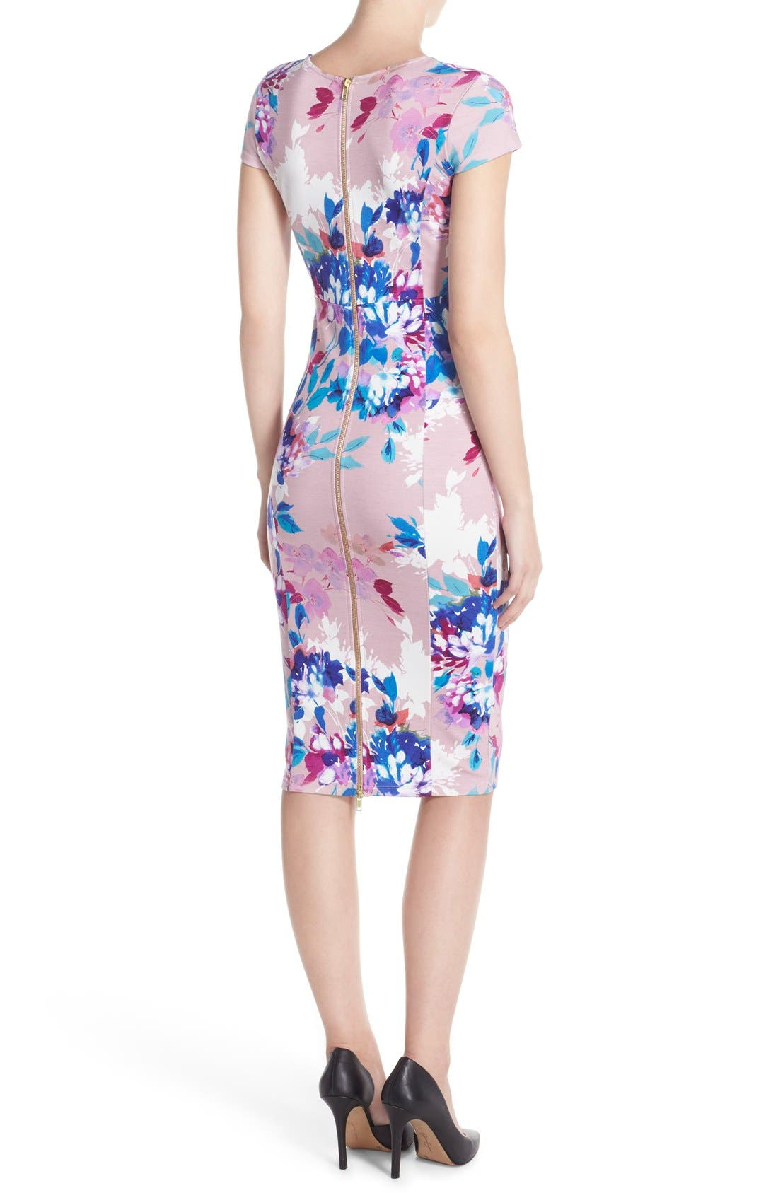 Alternate Image 2  - Felicity & Coco Floral Ponte Sheath Dress (Regular & Petite) (Nordstrom Exclusive)