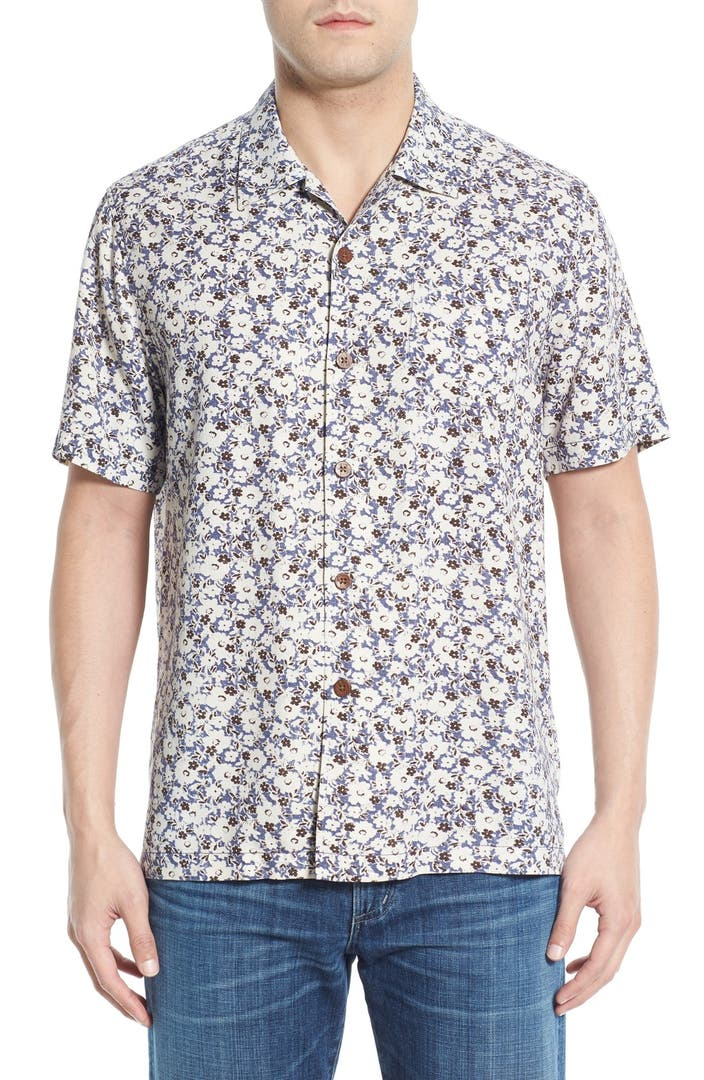 Tommy bahama 39 dundee floral 39 regular fit floral short for Tommy bahama short sleeve silk camp shirt