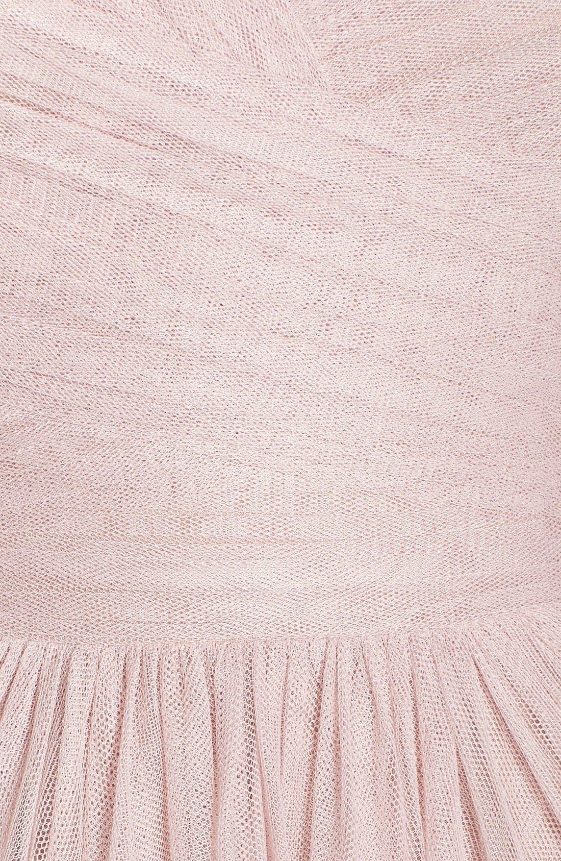 Alternate Image 5  - Monique Lhuillier Bridesmaids Sleeveless V-Neck Tulle Gown