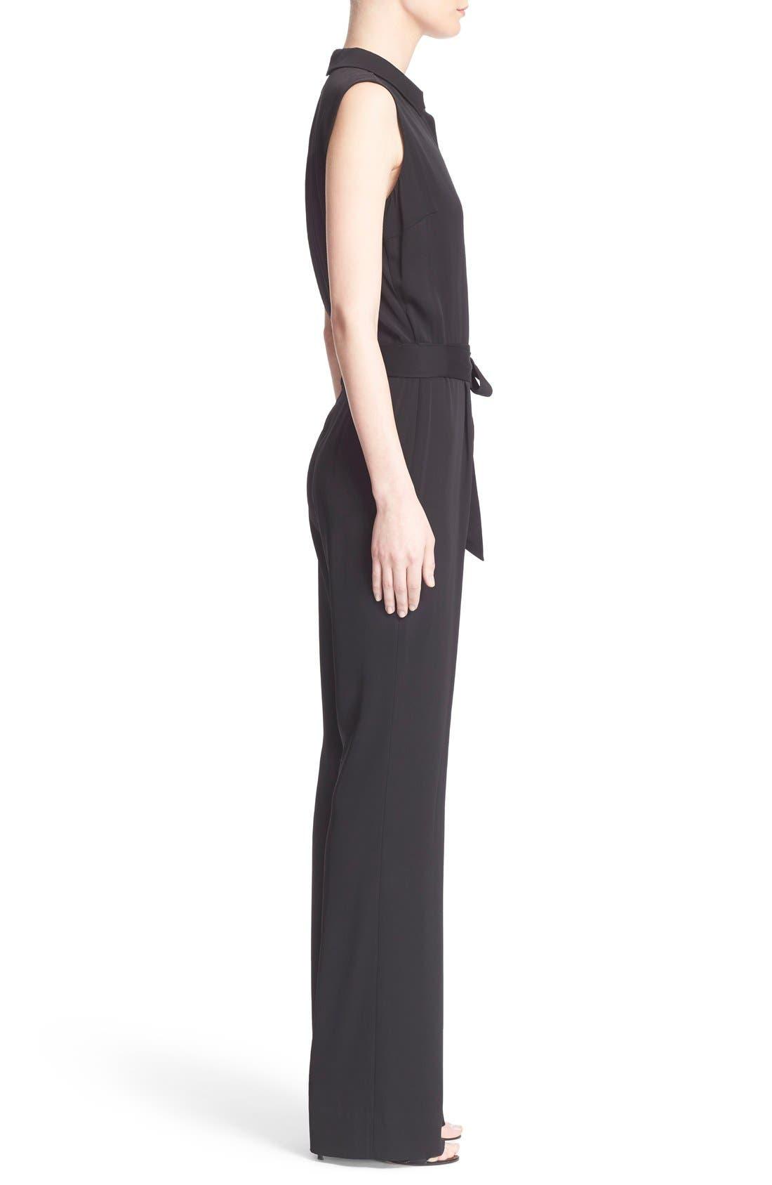 Alternate Image 3  - Diane von Furstenberg 'Traci' Stretch Silk Sleeveless Jumpsuit