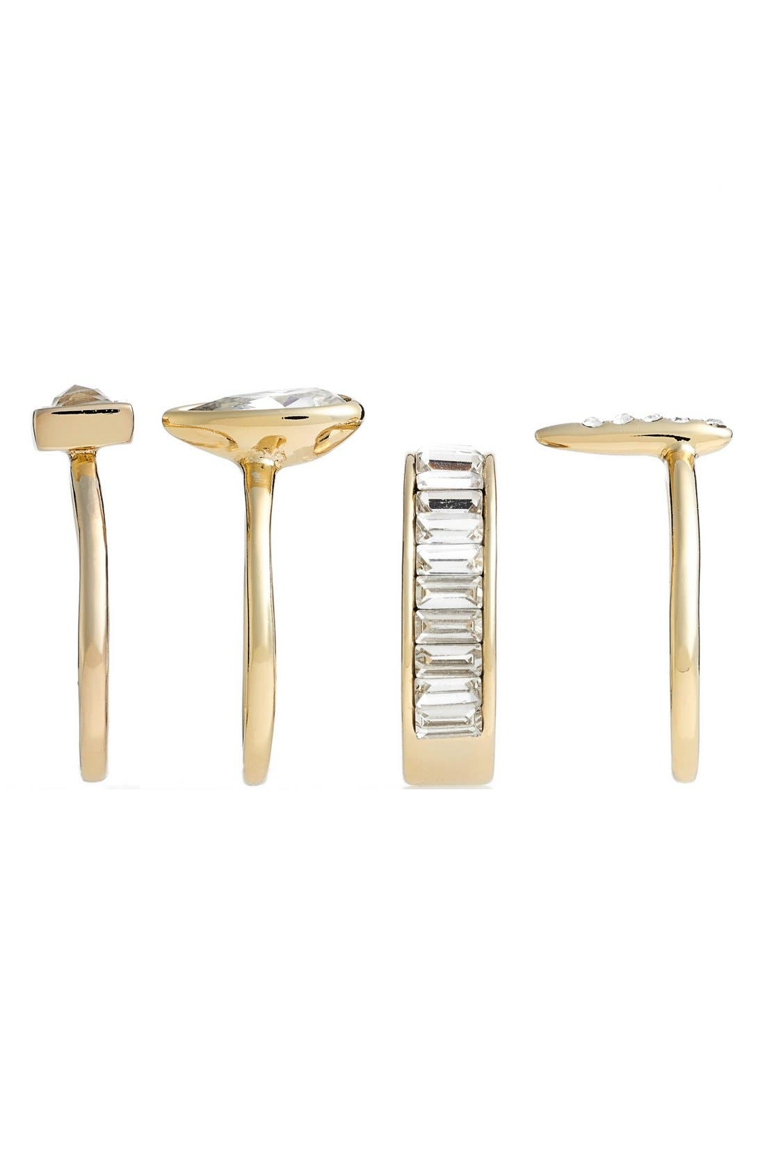 Alternate Image 2  - Alexis Bittar Crystal Stacking Rings (Set of 4)