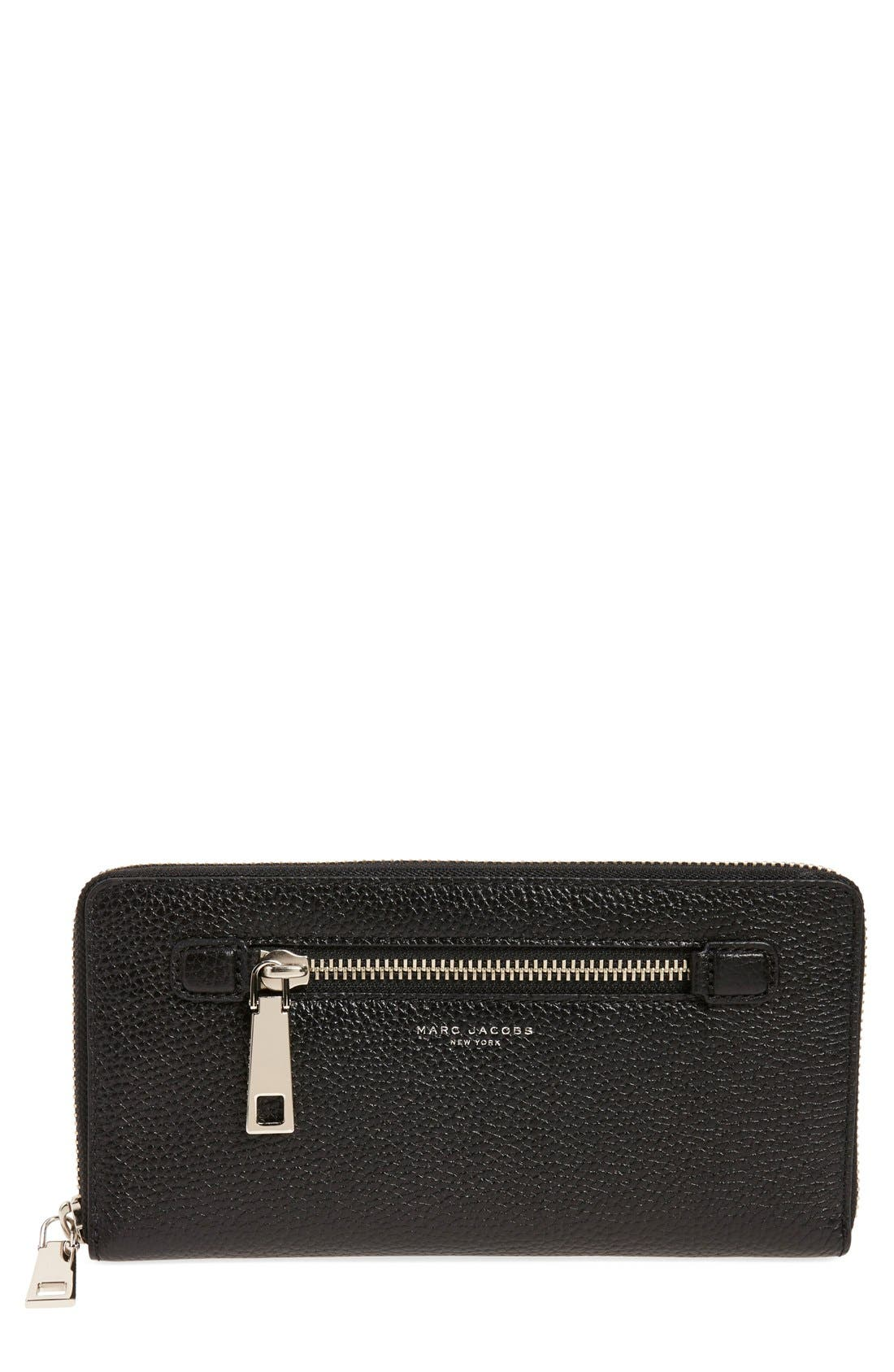 MARC JACOBS 'Gotham' Leather Travel Wallet