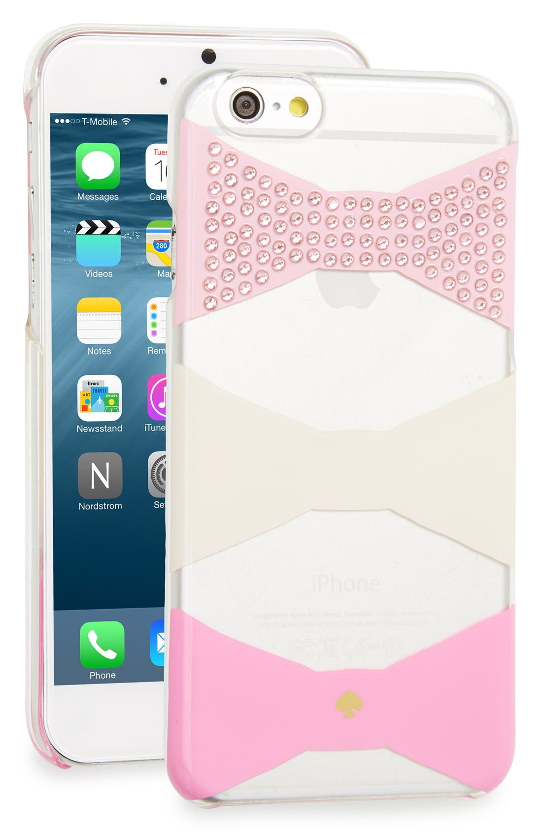 Main Image - kate spade new york 'embellished bow' iPhone 6 & 6s case