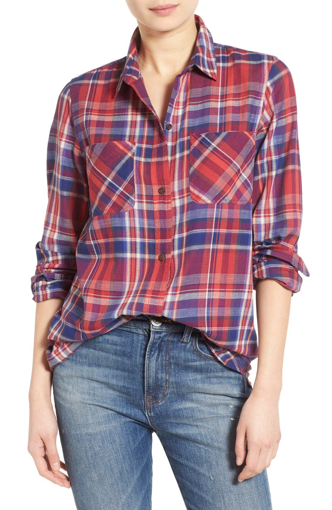 Main Image - Madewell 'Ex-Boyfriend - Kentwood Plaid' Shirt