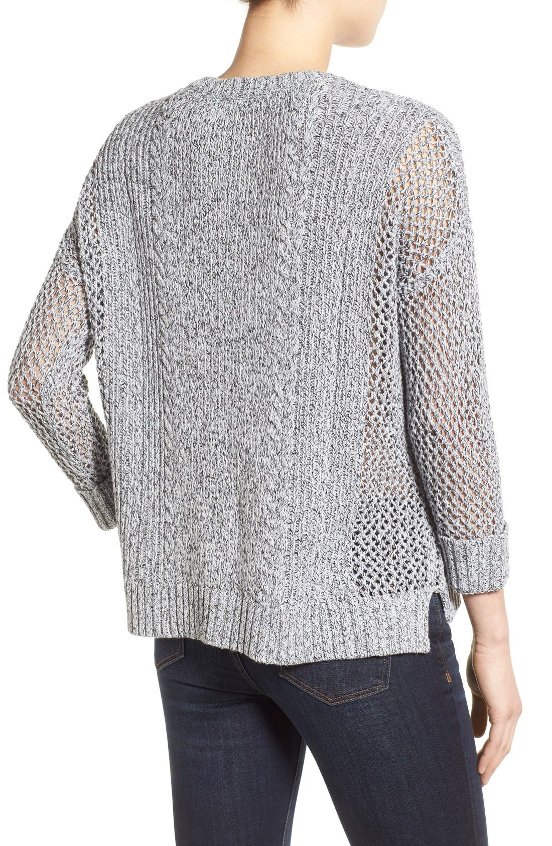 Alternate Image 2  - Madewell 'Karlie' Cable Knit Sweater
