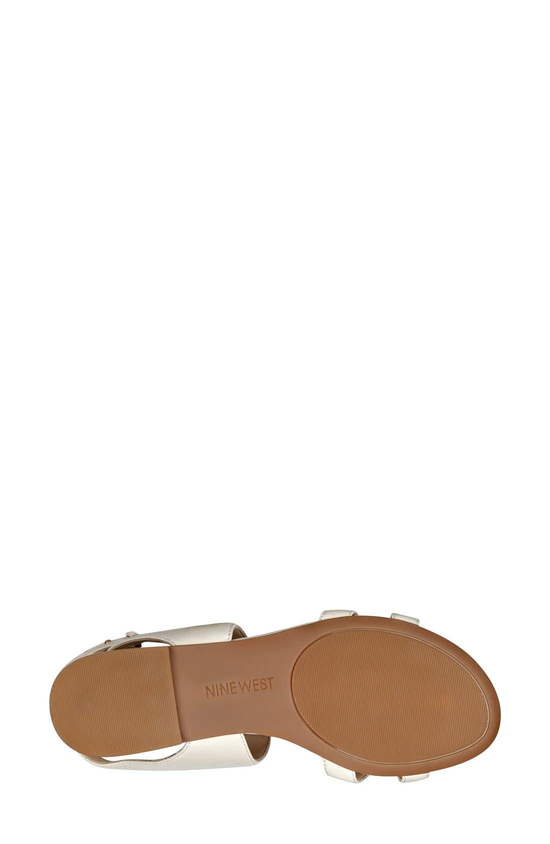 Alternate Image 4  - Nine West 'Darcelle' Flat Sandal (Women)