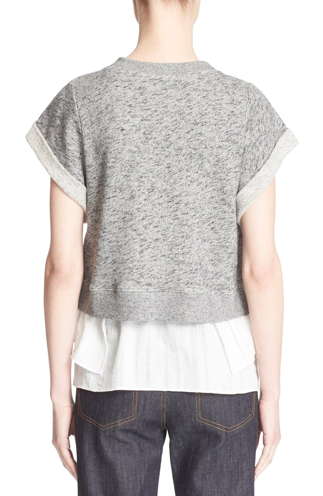 Alternate Image 2  - Derek Lam 10 Crosby 2-in-1 Ruffle Hem Sweatshirt