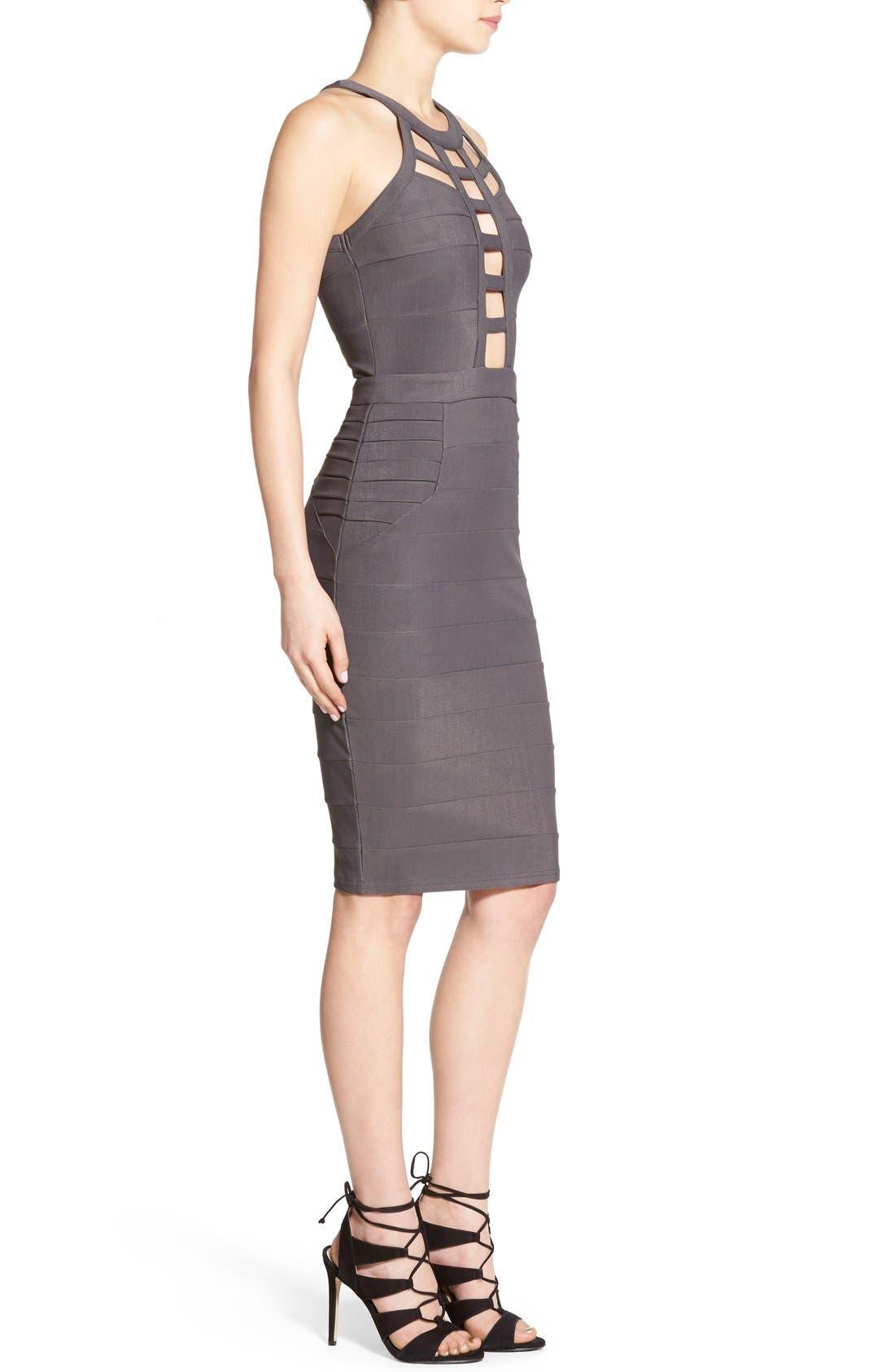 Alternate Image 3  - Missguided Cutout Bandage Body-Con Dress