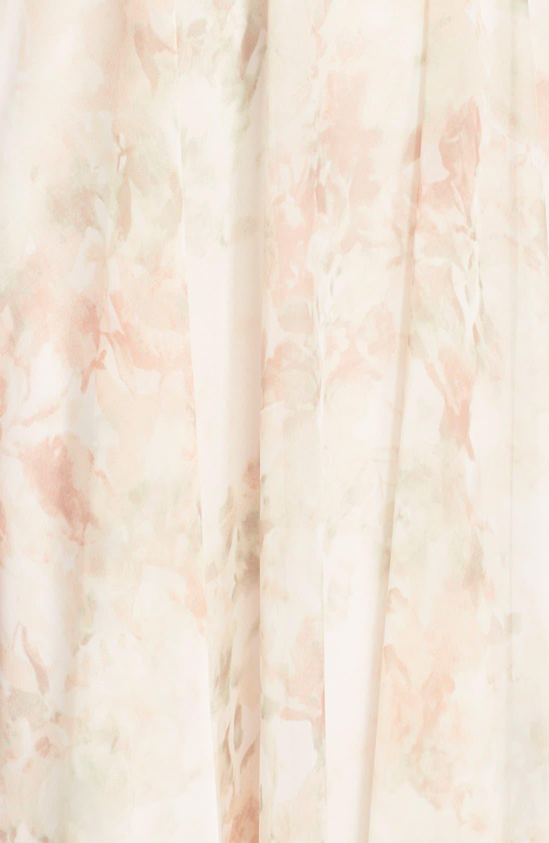 Alternate Image 5  - Jenny Yoo 'Cassie' Print Flutter Sleeve Chiffon Maxi Dress