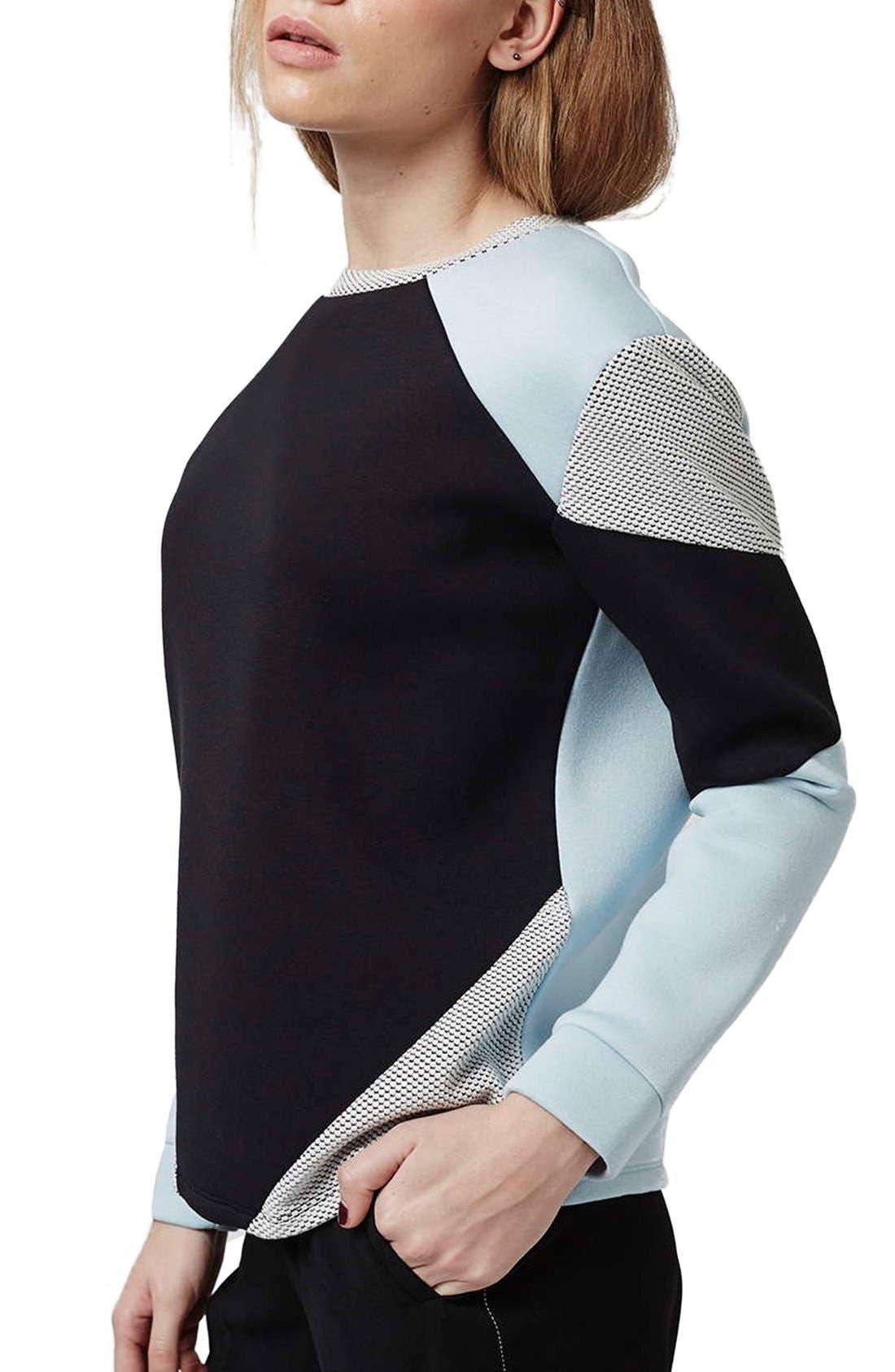 Alternate Image 1 Selected - Topshop Colorblock Sweatshirt