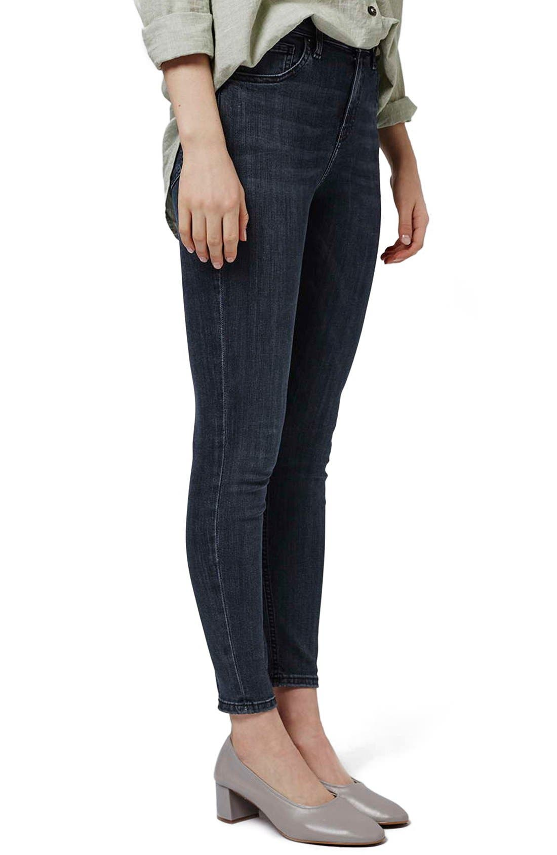 Alternate Image 1 Selected - Topshop 'Jamie' High Rise Skinny Jeans (Petite)