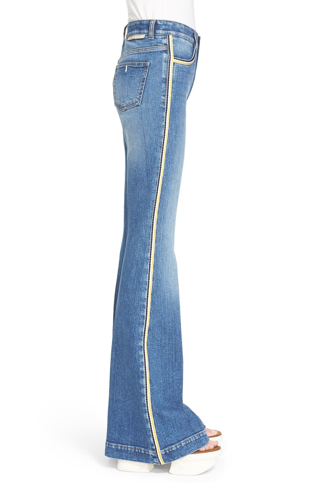 Alternate Image 5  - Stella McCartney '70s Flare' Jeans (Classic Blue)