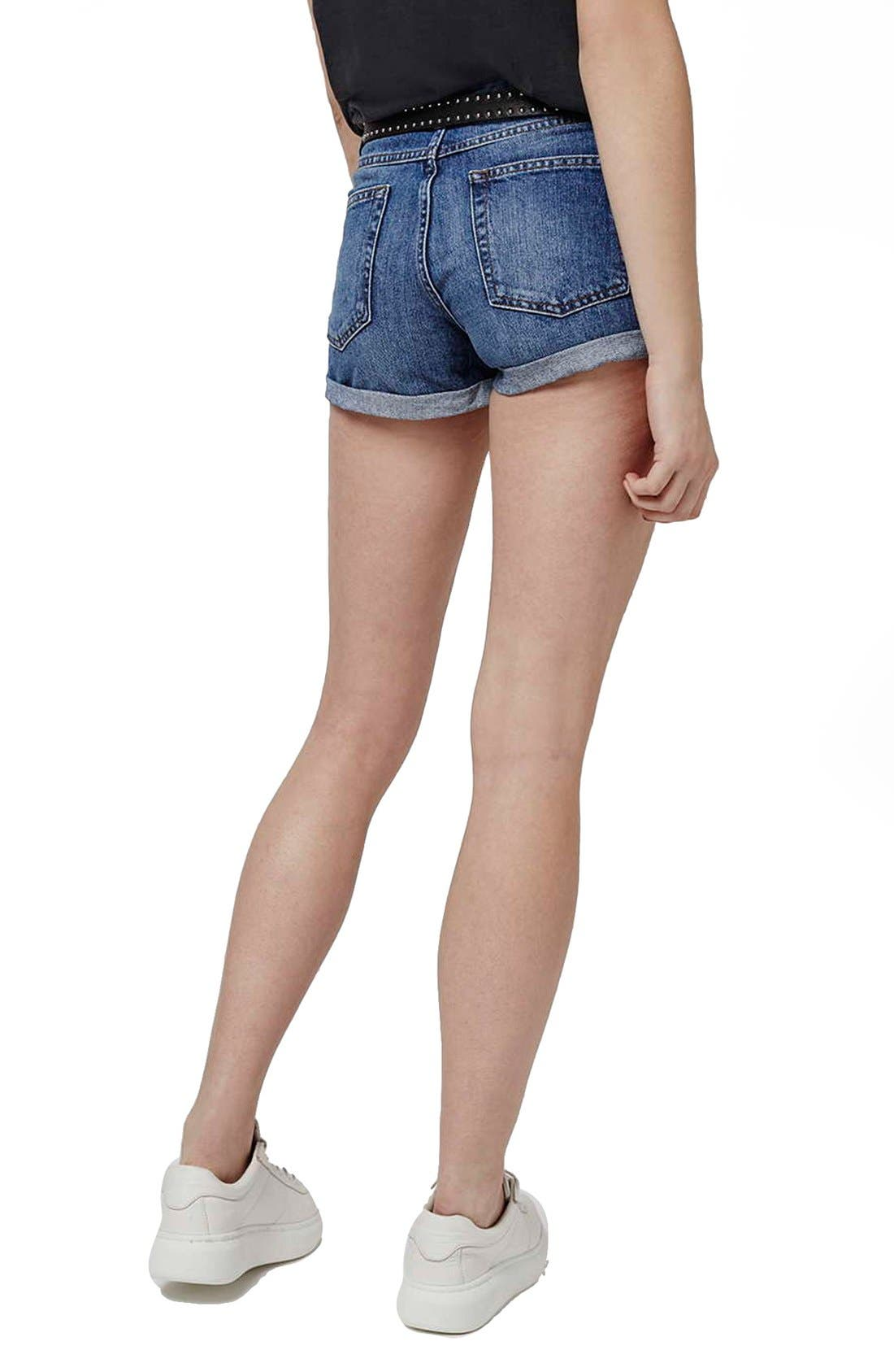 Alternate Image 3  - Topshop Moto 'Rosa' Denim Shorts