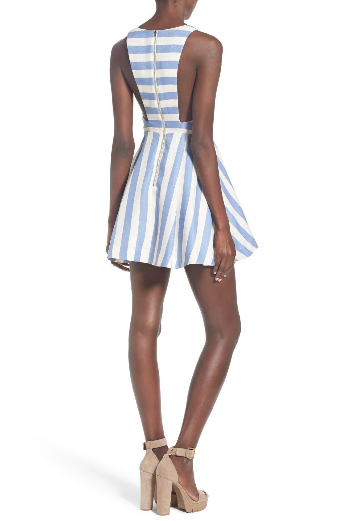 Alternate Image 2  - Lovers + Friends 'Honor' Stripe Fit & Flare Dress
