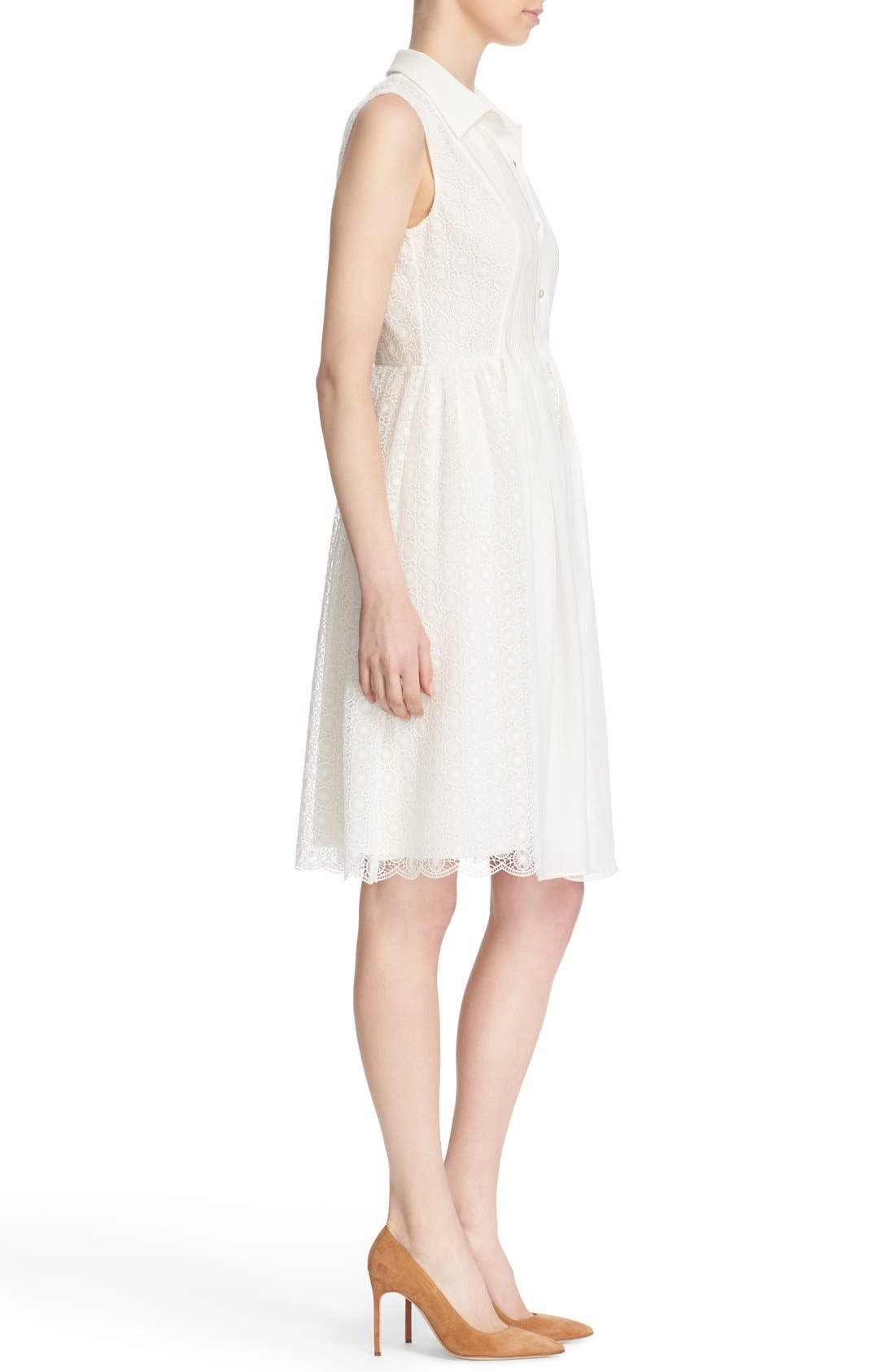 Alternate Image 3  - Diane von Furstenberg 'Nieves' Sleeveless Lace Shirtdress