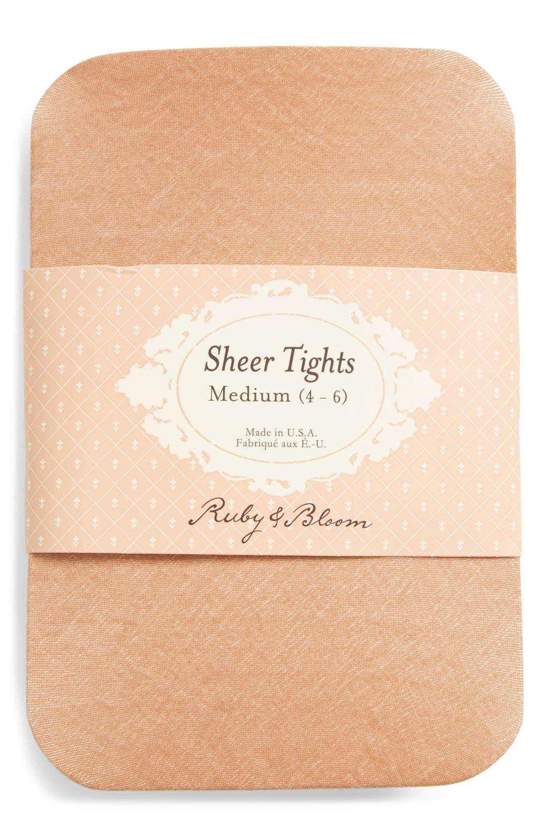 Alternate Image 2  - Ruby & Bloom Sheer Tights (Toddler Girls, Little Girls & Big Girls) (2 for $12)