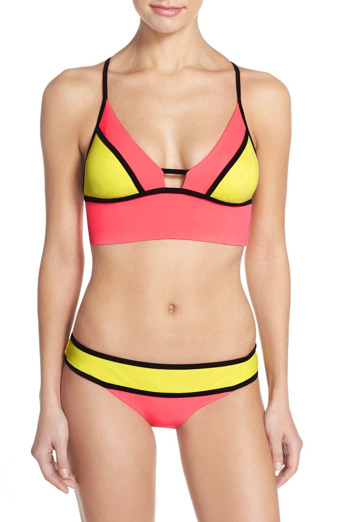 Alternate Image 4  - BCA Colorblock Longline Bikini Top