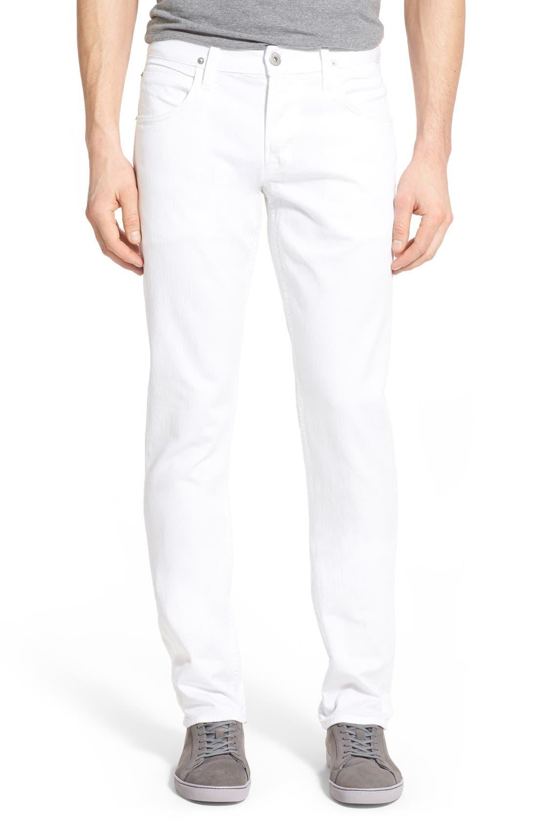 Hudson Jeans 'Blake' Slim Fit Jeans (White)