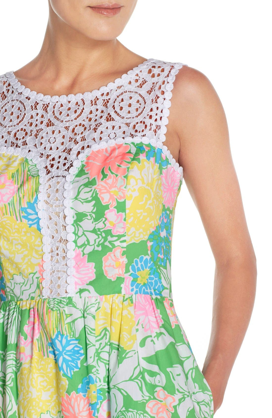 Alternate Image 5  - Lilly Pulitzer® 'Raegan' Cotton Fit & Flare Dress