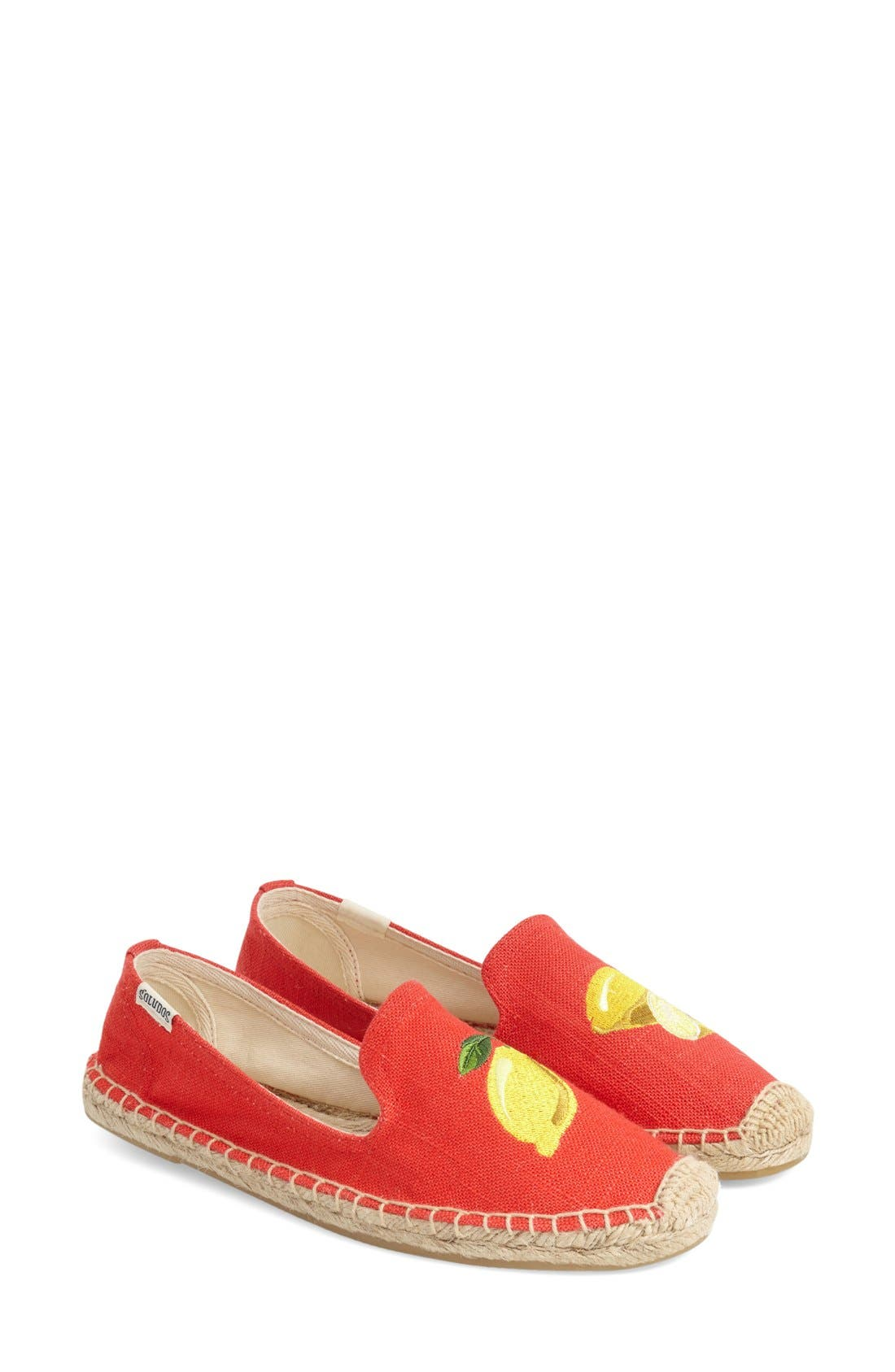 Main Image - Soludos Embroidered Flat (Women)