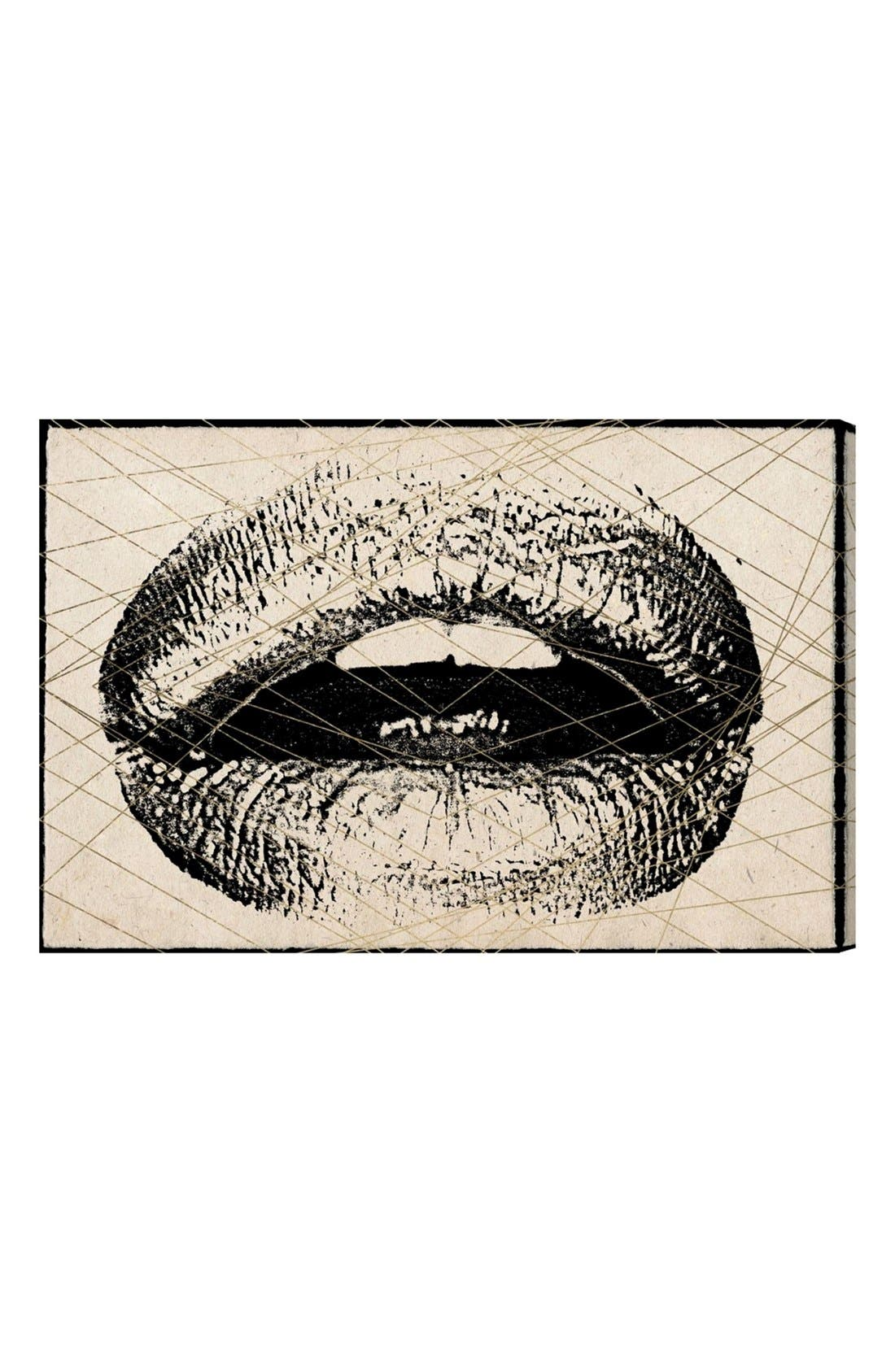Alternate Image 1 Selected - Hatcher & Ethan 'Lips' Canvas Print