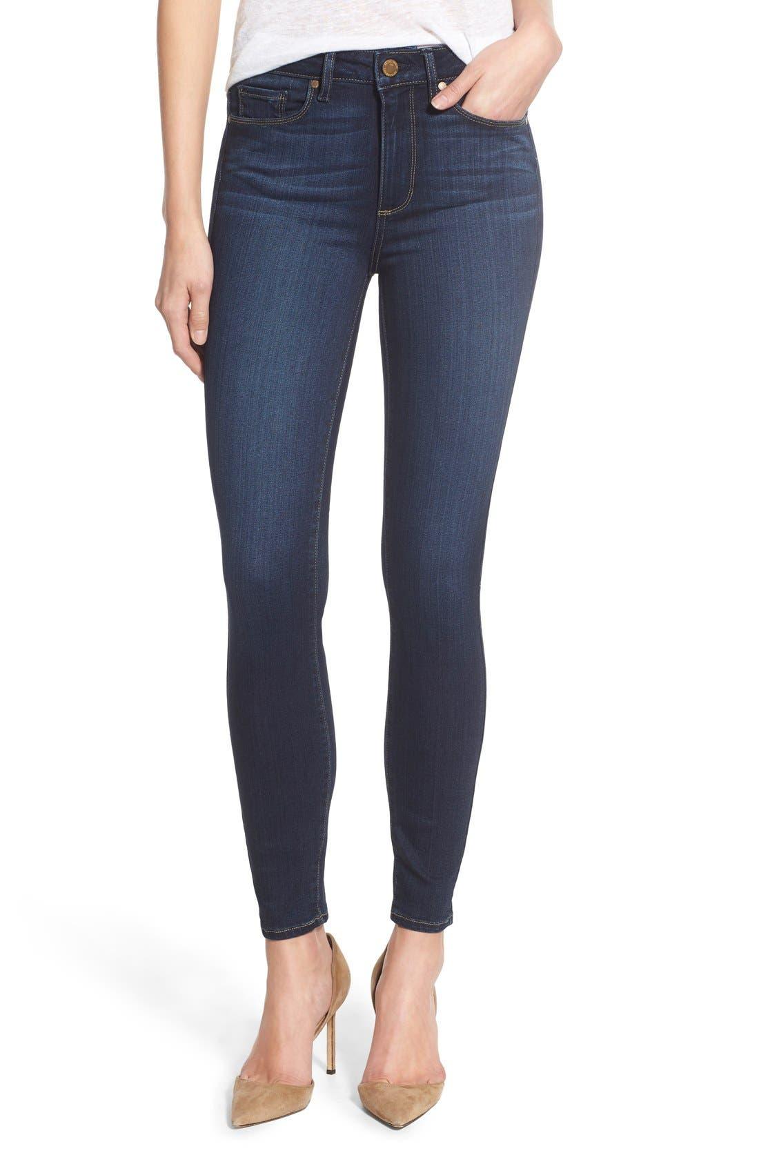 Main Image - PAIGE Transcend - Hoxton High Waist Ankle Ultra Skinny Jeans (Hartmann)