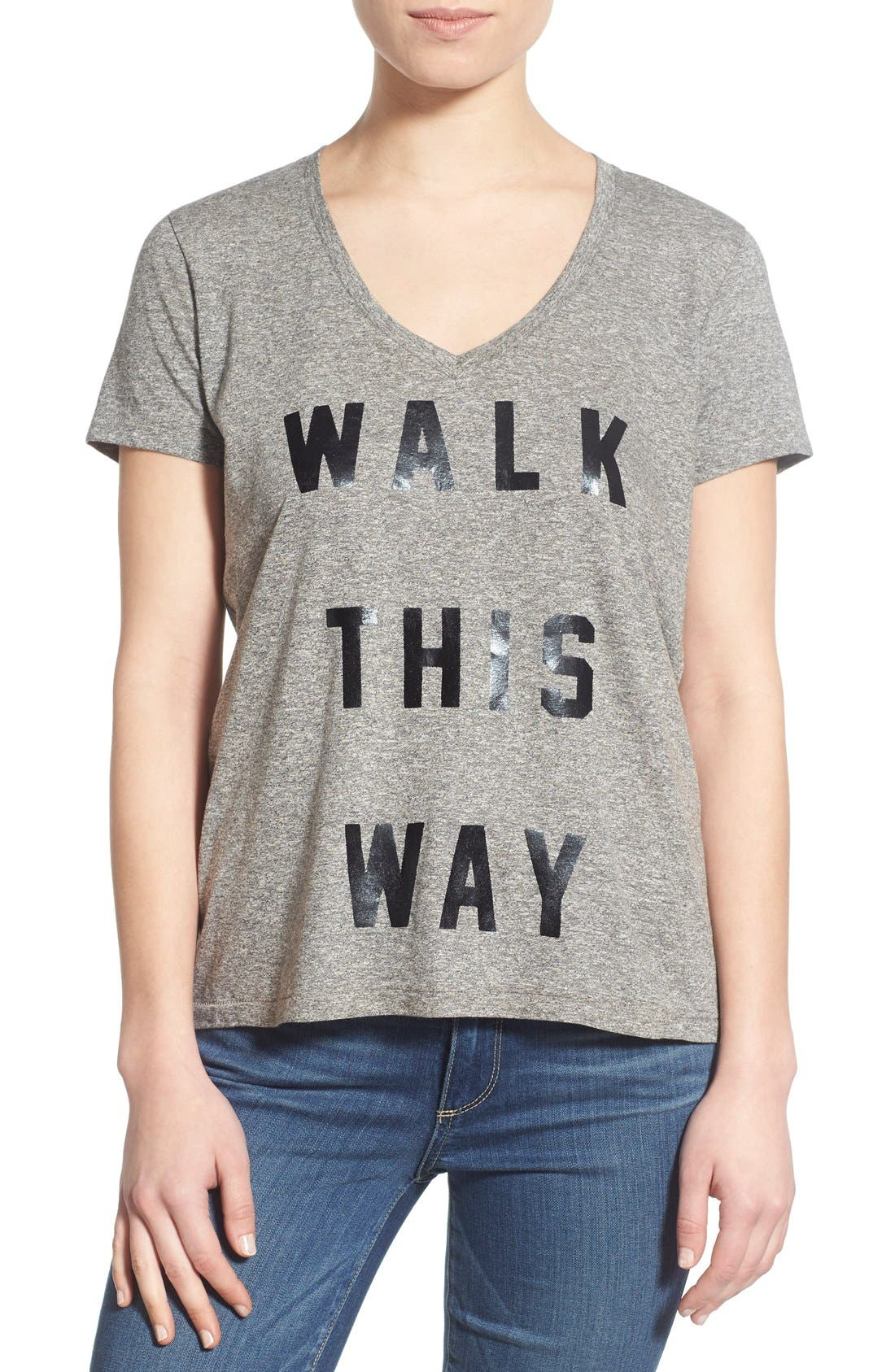 Alternate Image 1 Selected - Sol Angeles 'Walk This Way' V-Neck Tee