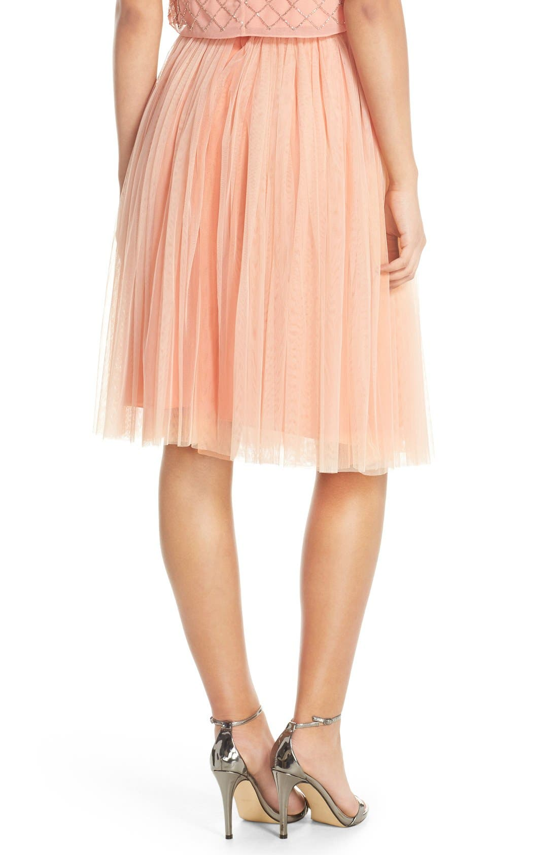 Alternate Image 2  - Needle & Thread Tulle Midi Skirt