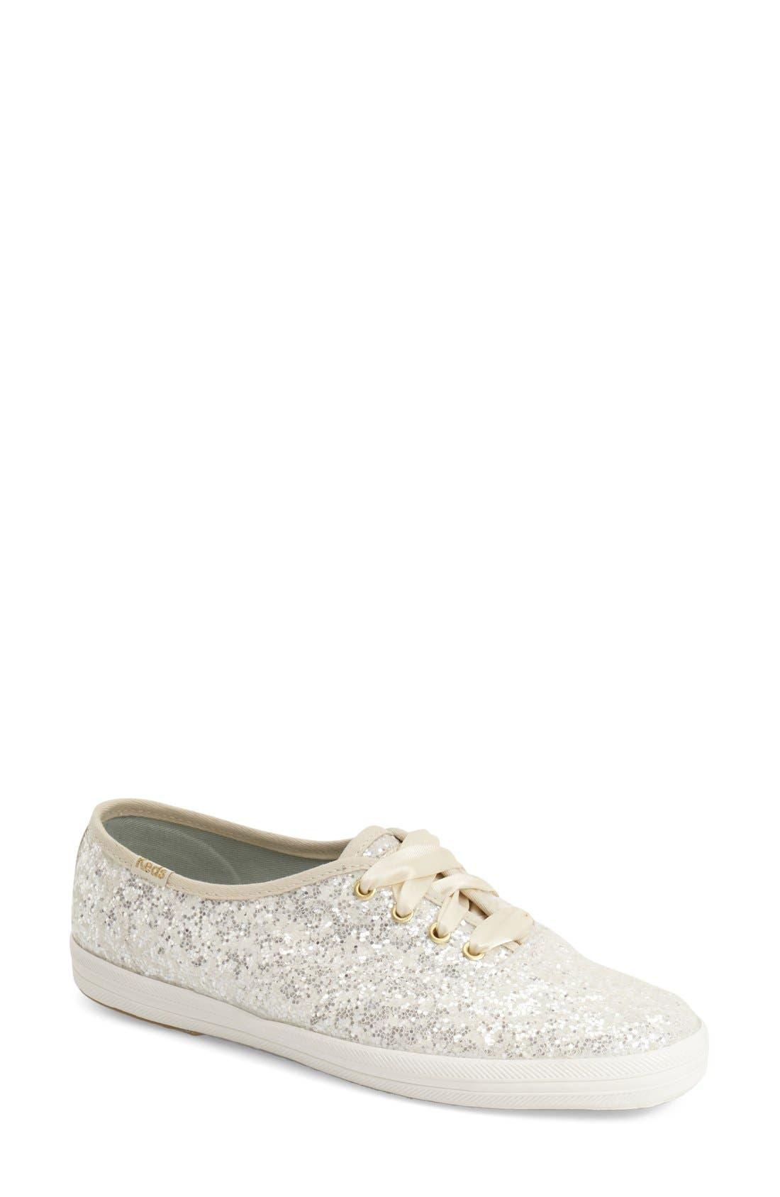 Alternate Image 1 Selected - Keds® for kate spade new york glitter sneaker (Women)