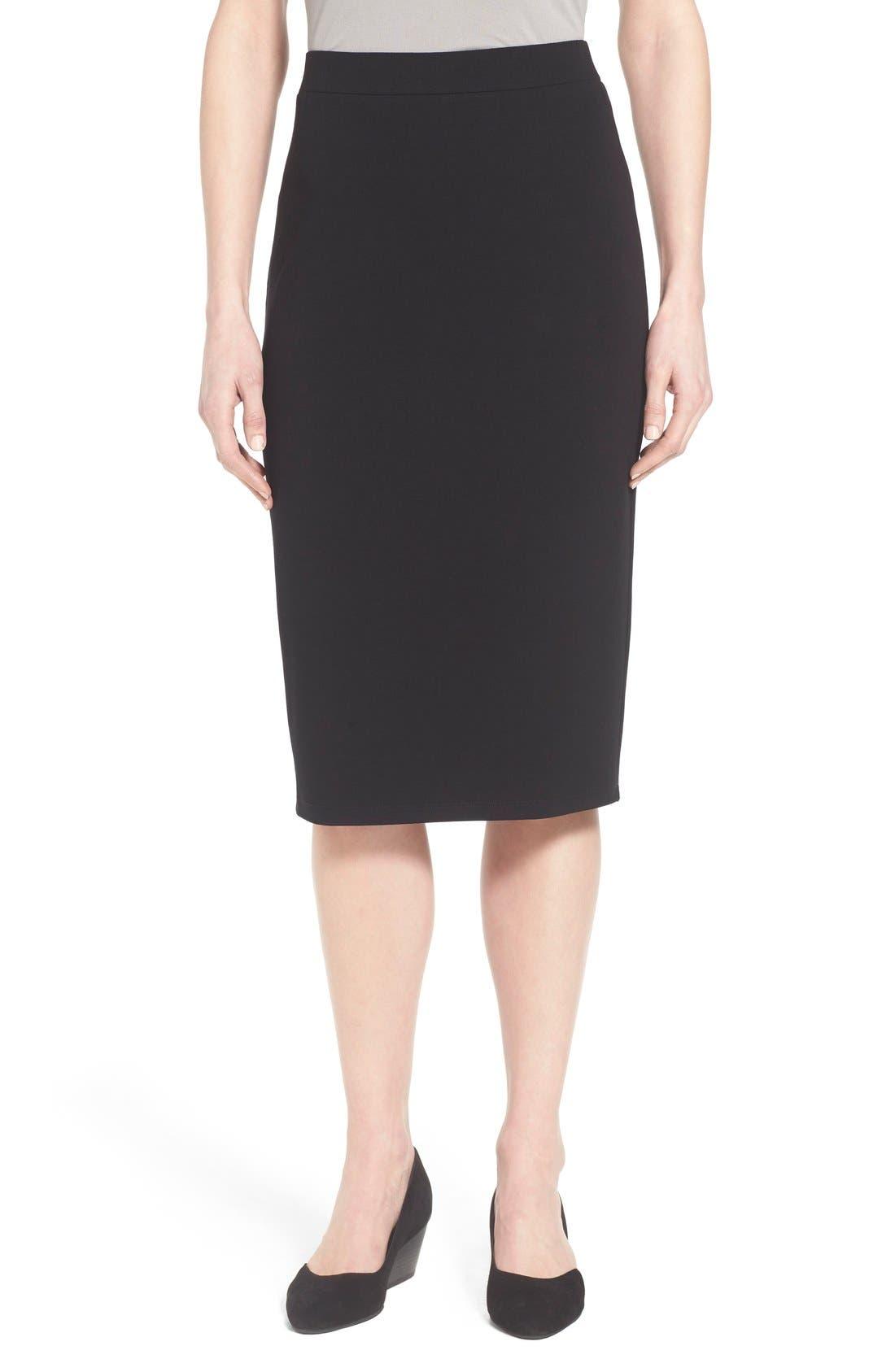 Eileen Fisher Calf Length Pencil Skirt (Regular & Petite)