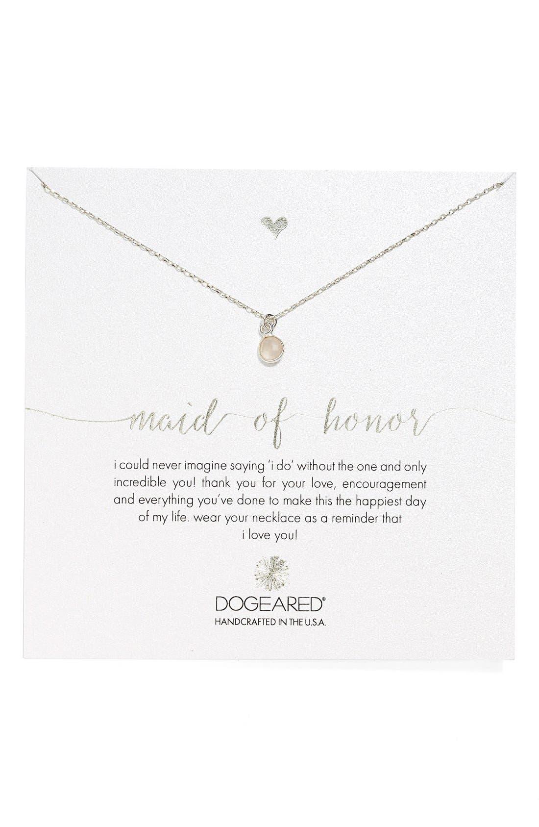 Alternate Image 1 Selected - Dogeared Rose Quartz Pendant Necklace (Nordstrom Exclusive)
