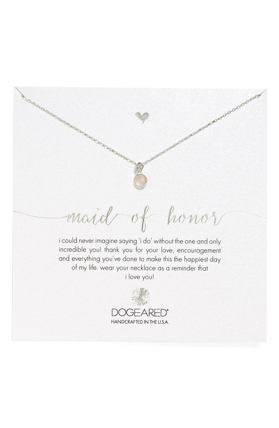 Main Image - Dogeared Rose Quartz Pendant Necklace (Nordstrom Exclusive)