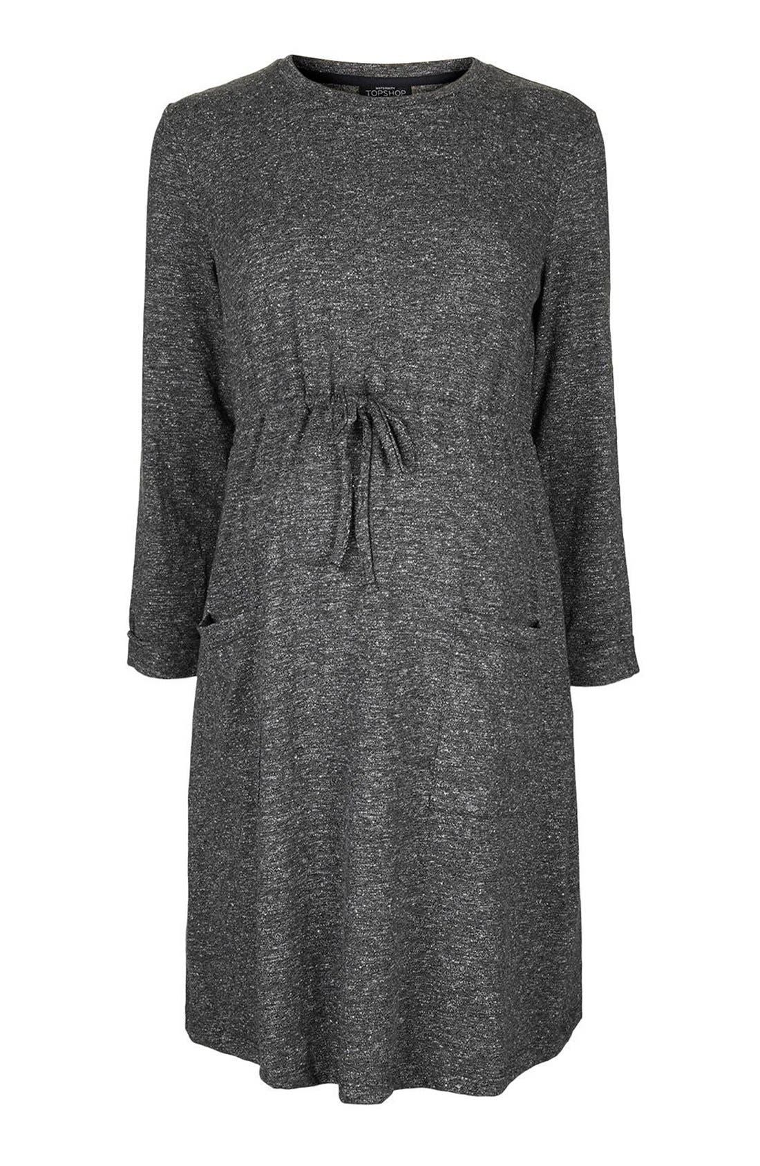 Alternate Image 5  - Topshop Drawstring Maternity Dress