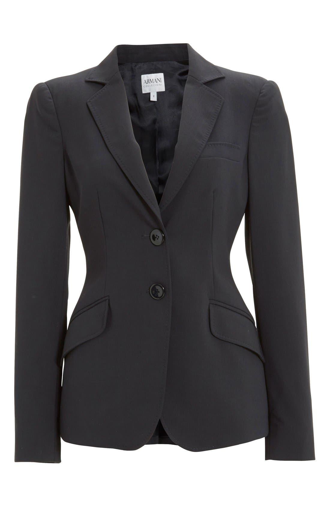 Alternate Image 4  - Armani Collezioni Two-Button Featherweight Wool Jacket