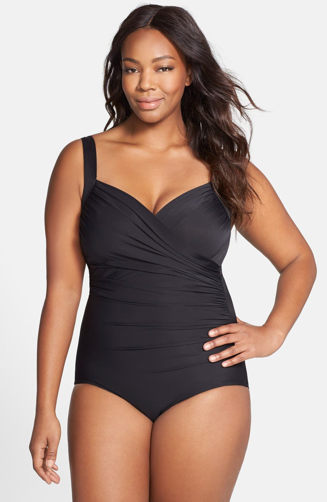 Miraclesuit® 'Sanibel' Underwire One-Piece Swimsuit (Plus Size)