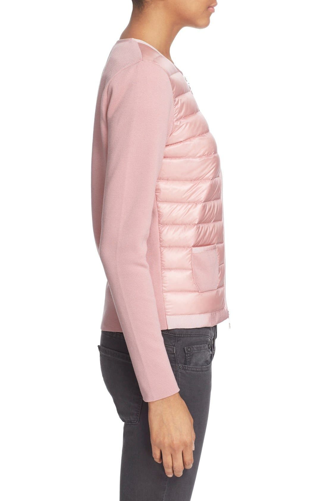 Alternate Image 5  - Moncler 'Maglia' Quilted Down Front Tricot Cardigan