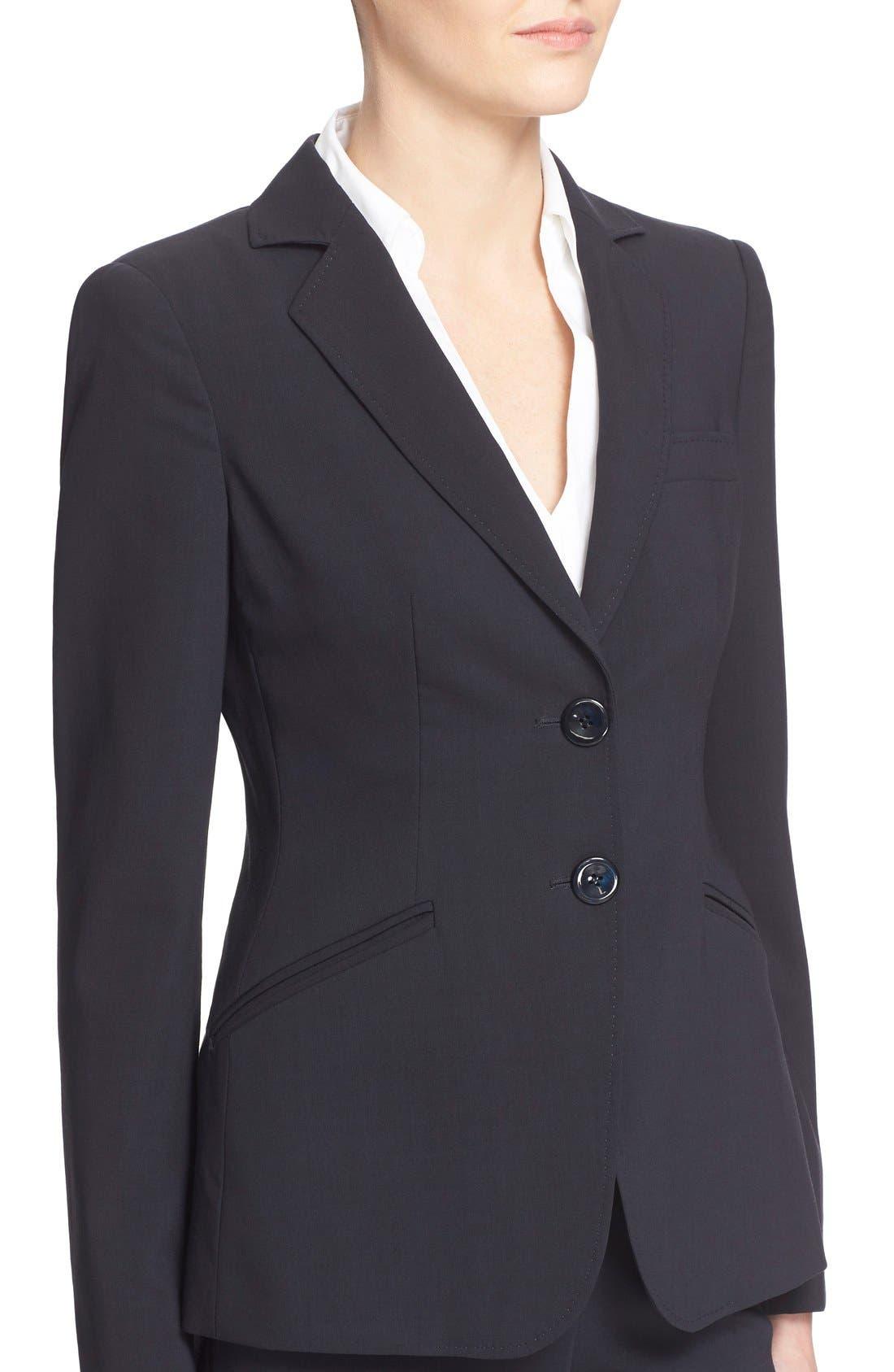 Alternate Image 6  - Armani Collezioni Two-Button Featherweight Wool Jacket