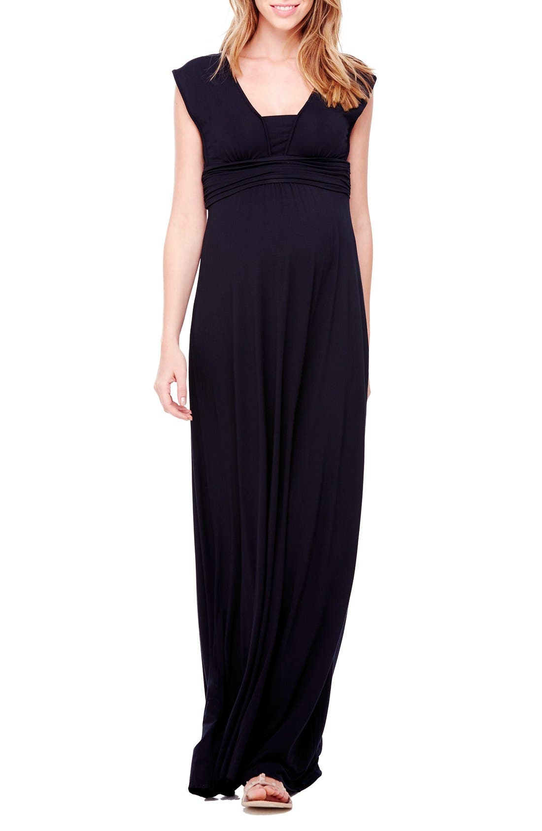 INGRID & ISABEL® Empire Waist Maternity Maxi Dress
