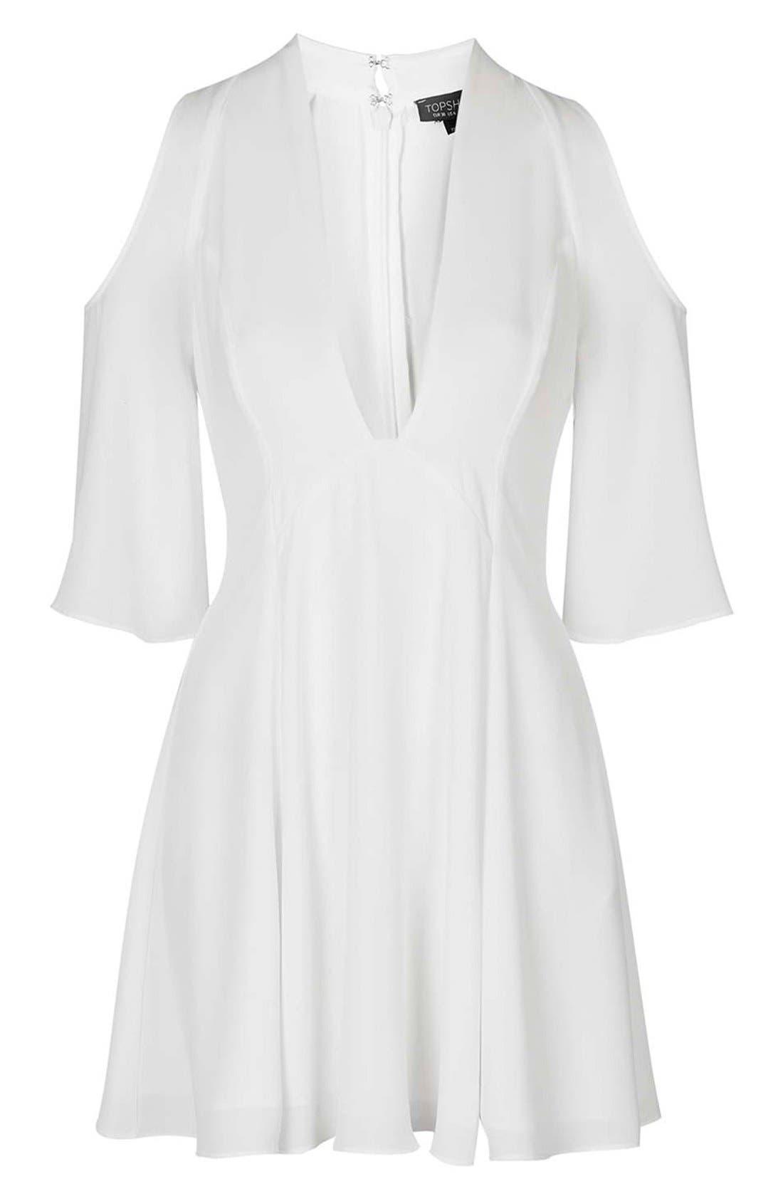 Alternate Image 6  - Topshop Cold Shoulder Skater Dress