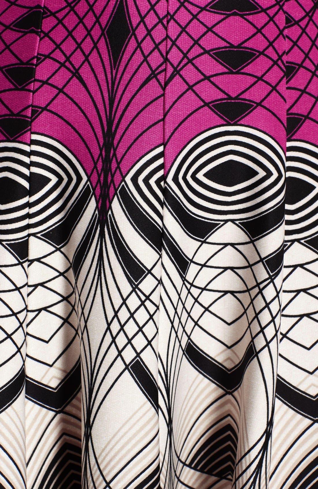 Alternate Image 6  - Gabby Skye Colorblock Print Scuba Fit & Flare Dress