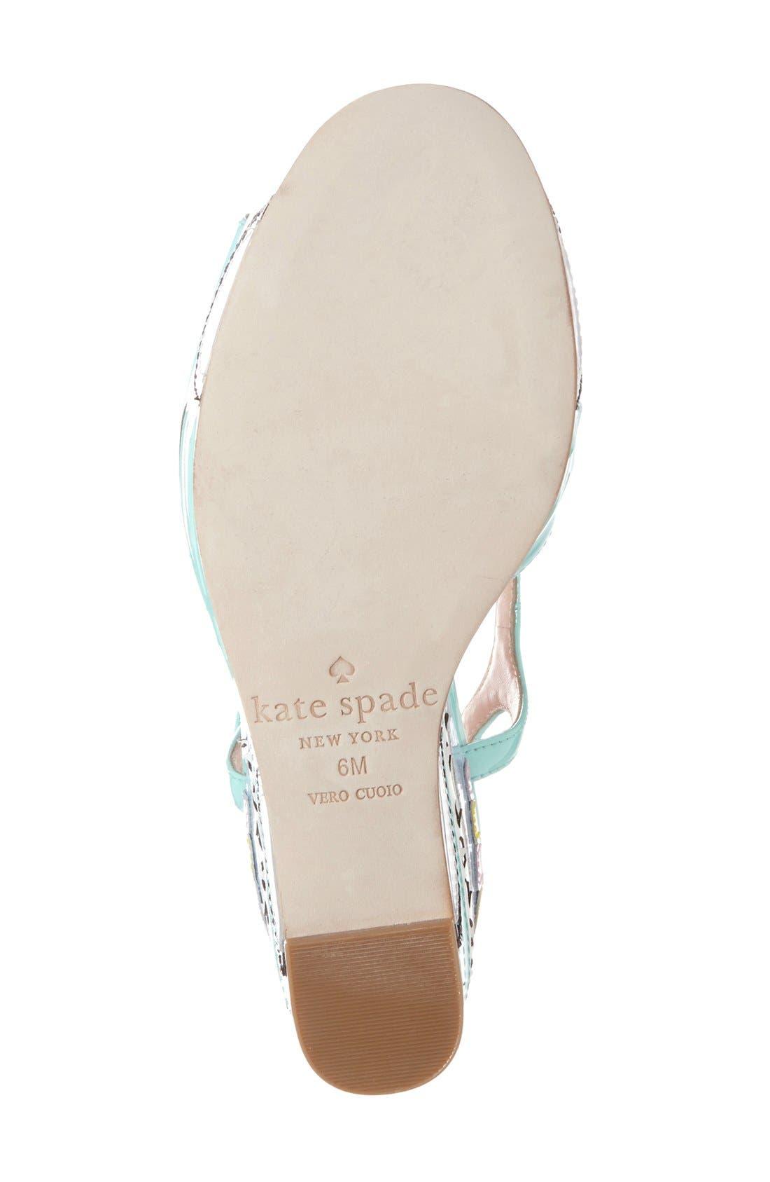 Alternate Image 4  - kate spade new york 'dotty' wedge sandal (Women)