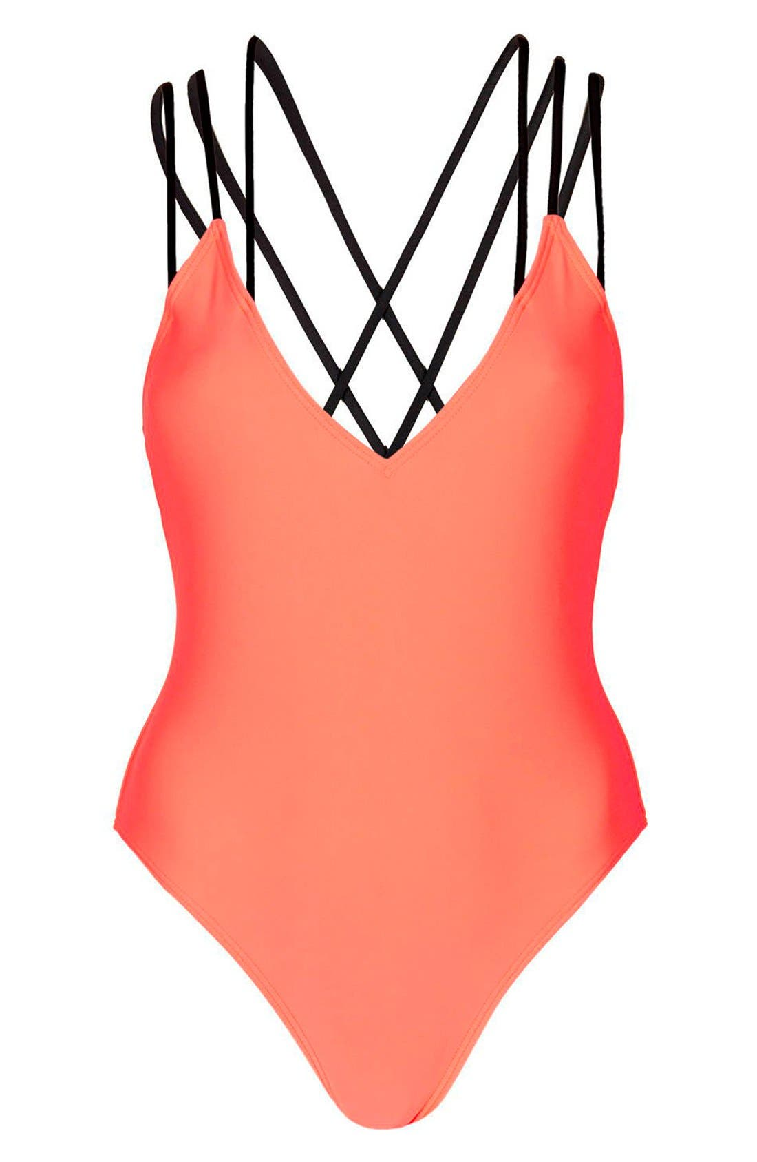 Alternate Image 3  - Topshop Strappy Cross Back One-Piece Swimsuit