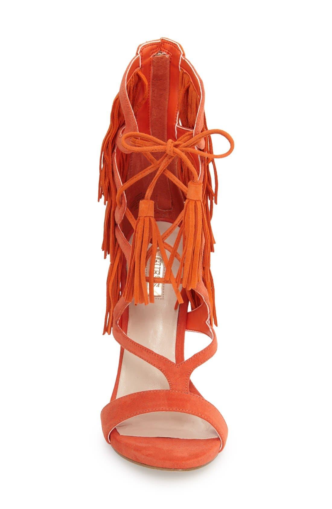 Alternate Image 3  - GUESS 'Abria Fringe' Tassel Ghillie Sandal (Women)