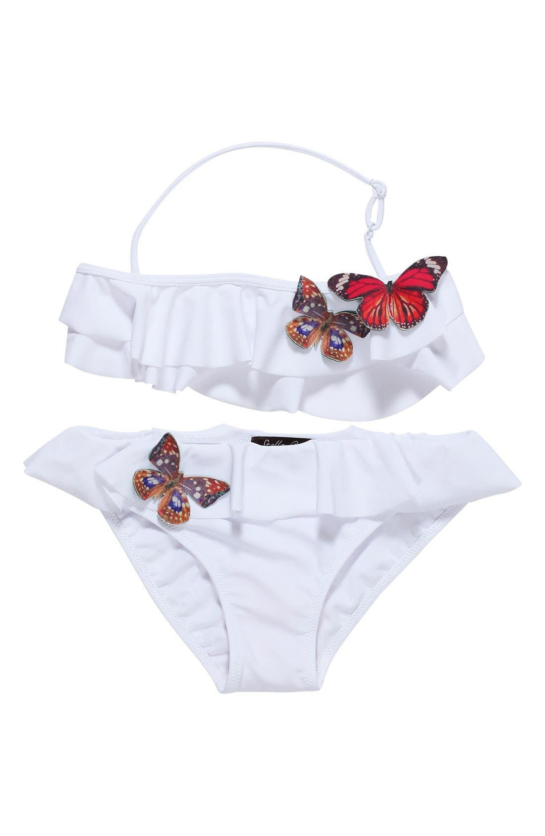 STELLA COVE 'Butterfly' Ruffle Two-Piece Swimsuit