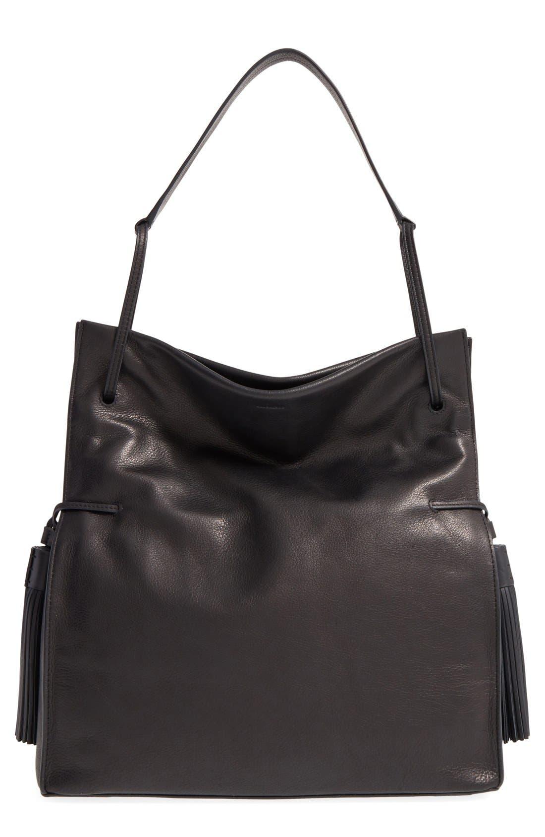 Alternate Image 1 Selected - ALLSAINTS 'Freedom' Tassel Leather Hobo