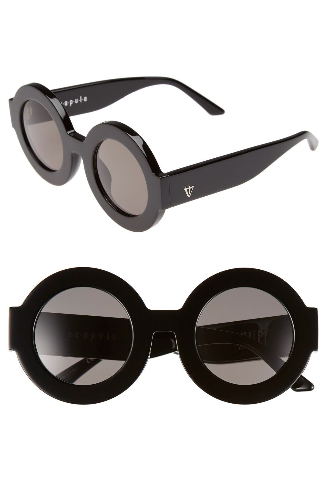 Alternate Image 1 Selected - VALLEY 'Scapula' 45mm Round Sunglasses