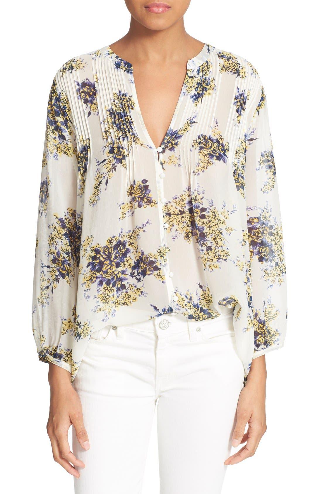 Alternate Image 1 Selected - Joie 'Laurel B' Floral Print Silk Top