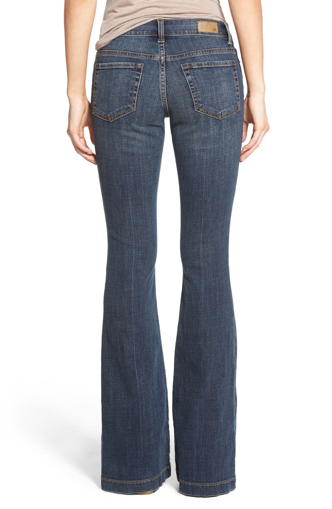Alternate Image 2  - BP. Mid Rise Flare Jeans (Dark Bloom)